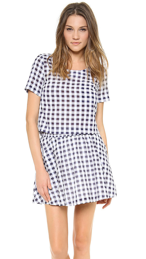 JOA Gingham Top and Skirt Set