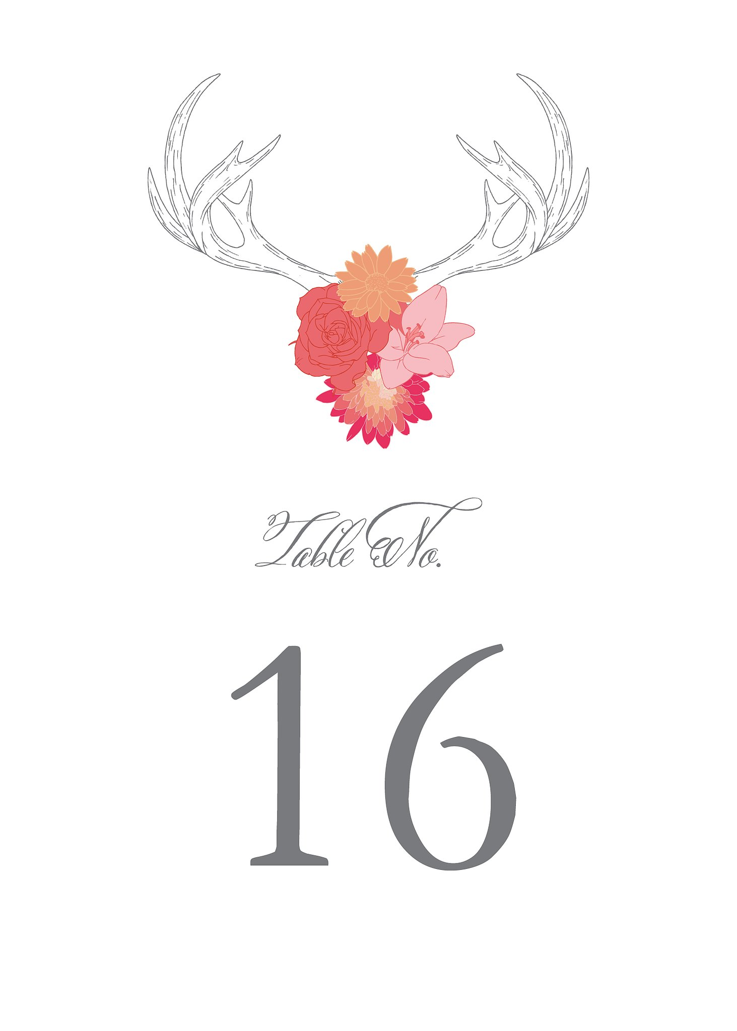 Antlers Table Numbers and Place Cards