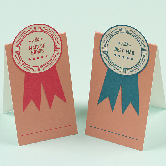 Pop-Up Ribbon Place Cards