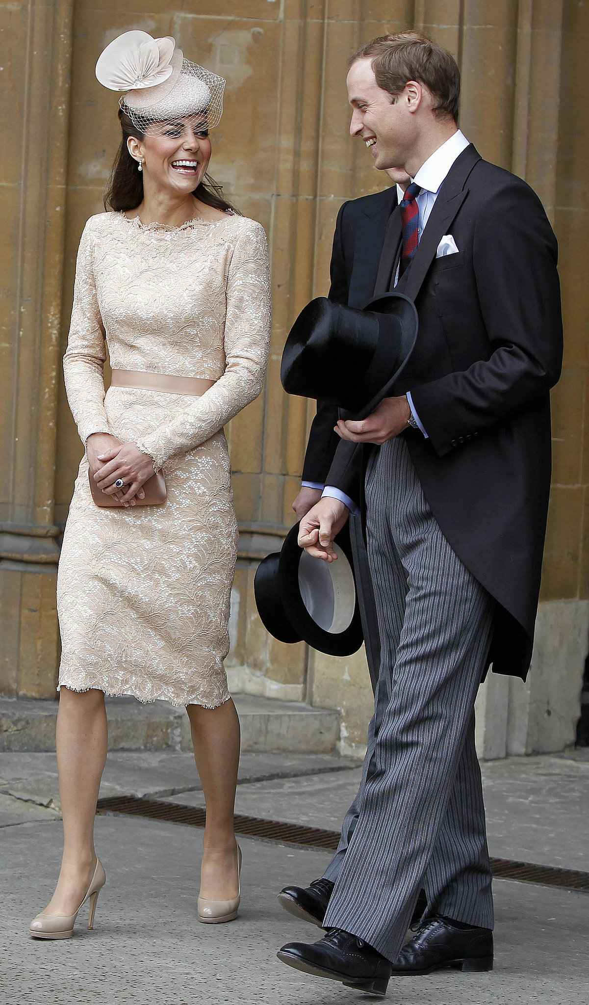 Kate laughed with Prince William during a June 2012 Diamond Jubilee event in London.