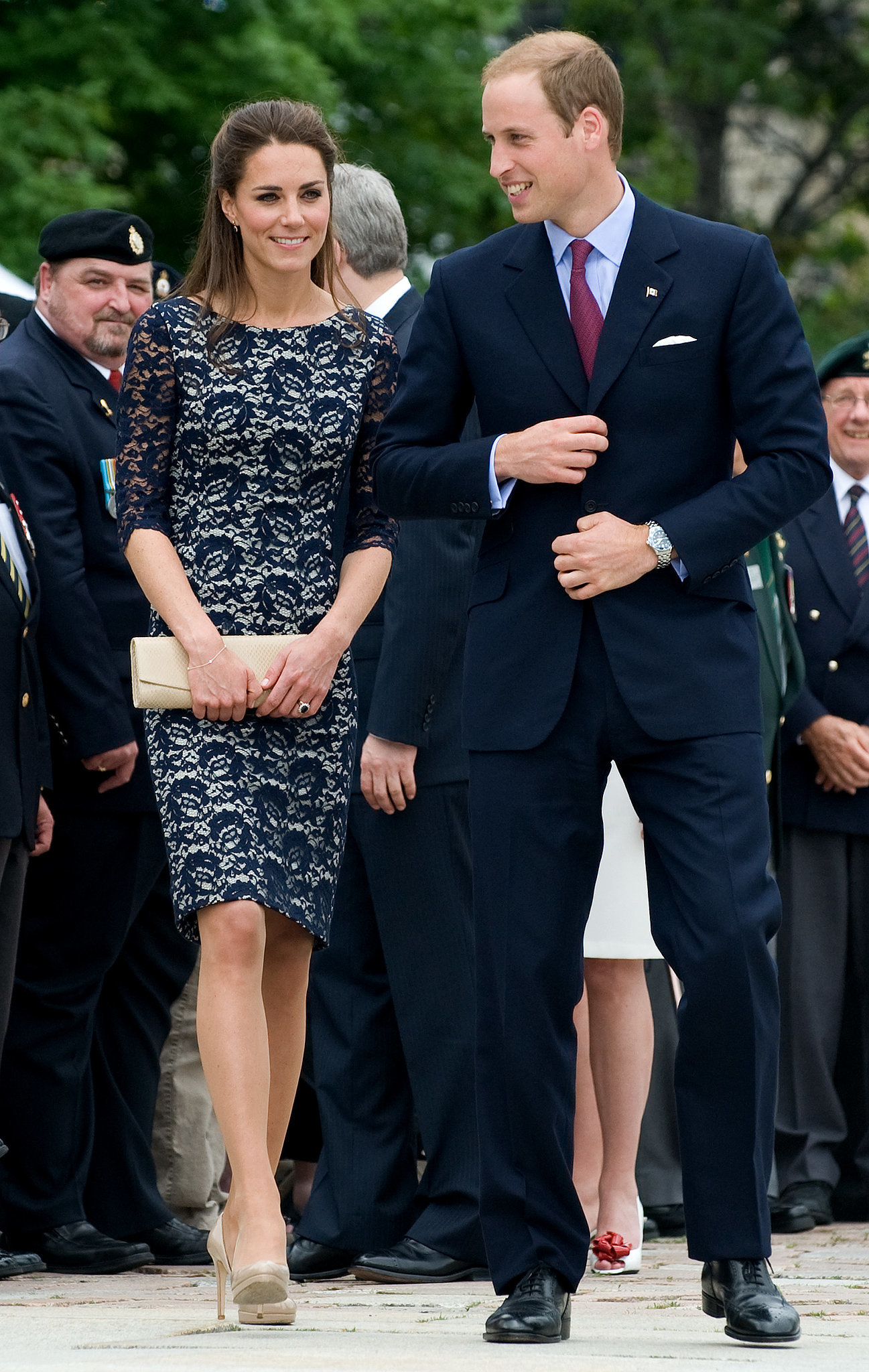 Prince William and Kate Middleton were all smiles while touring Ottowa, Canada, in June 2011.