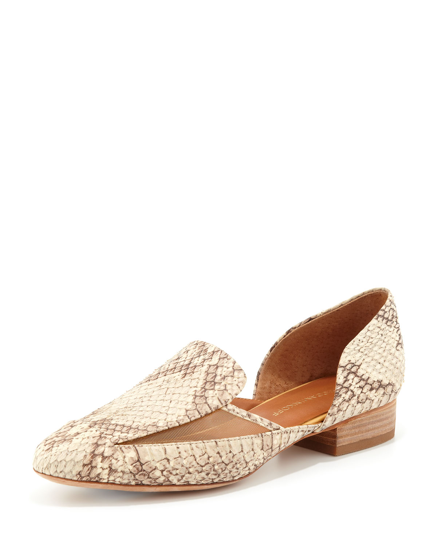 Rebecca Minkoff Snake-Embossed Loafers
