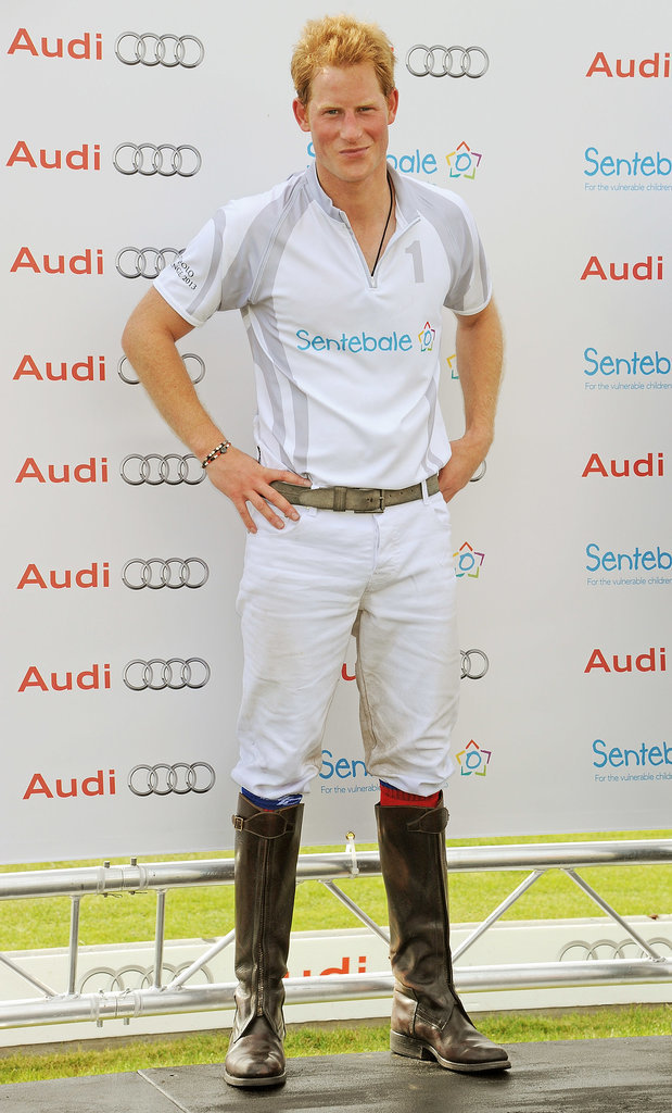 In August 2013, Harry looked very fit after playing a game of polo in Ascot, Berkshire, England.