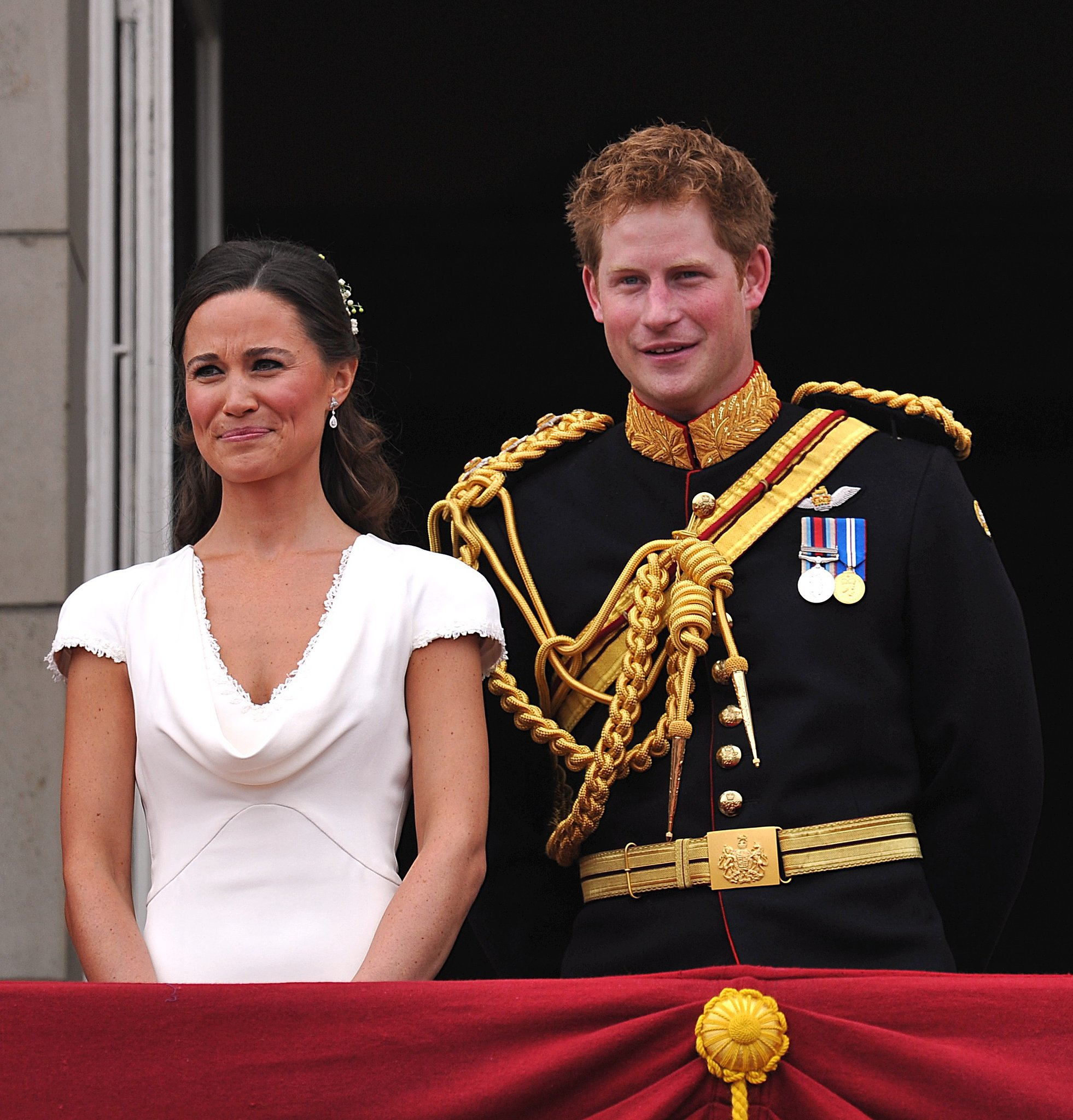 Best man Harry presumably cracked a joke to an unamused maid of honor, Pippa Middleton, at Prince William and Kate Middleton's wedding in April 2011.