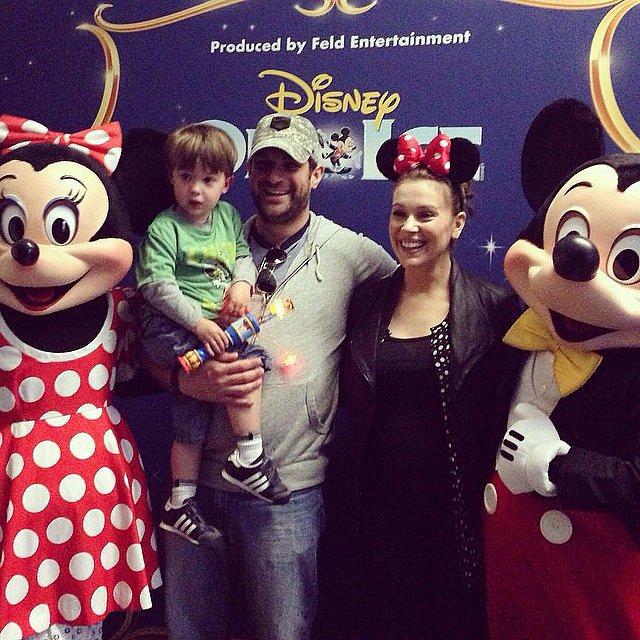 Alyssa Milano took Milo to see Disney on Ice. Source: Instagram user milano_alyssa