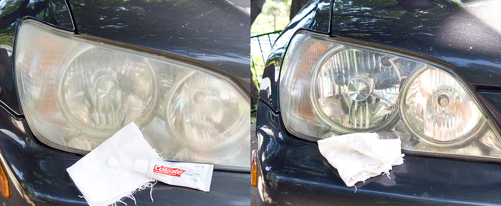 Shine Headlights With Toothpaste