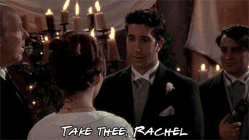 When Ross Says Rachel's Name at His Wedding