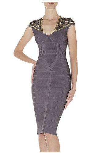 Camira Studded-Detail Bandage Dress