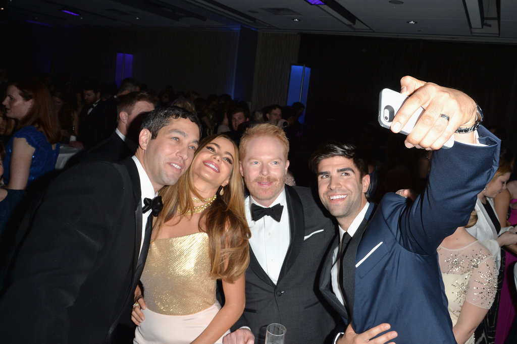 Nick Loeb, Sofia Vergara, Jesse Tyler Ferguson, and Justin Mikita showed us that no occasion is too high profile for a selfie.