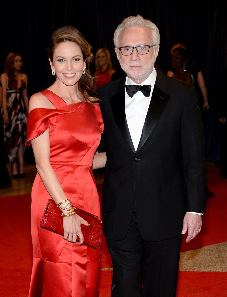Diane Lane and Wolf Blitzer walked the red carpet together.