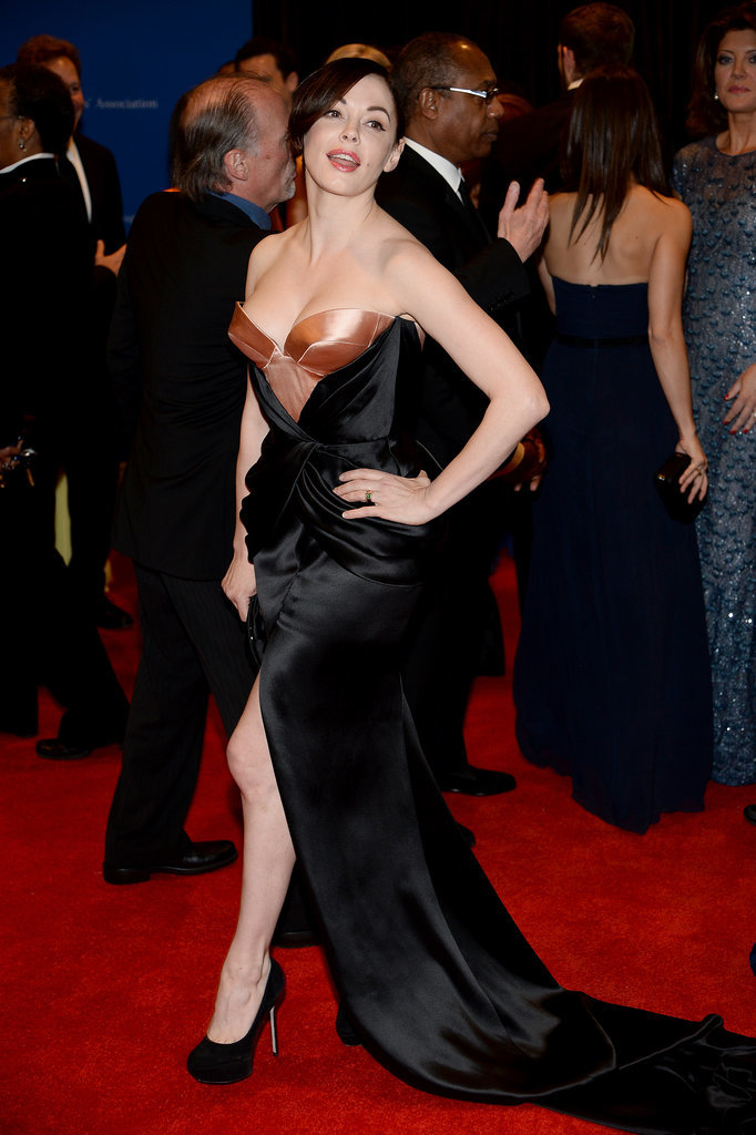 Rose McGowan struck a pose.