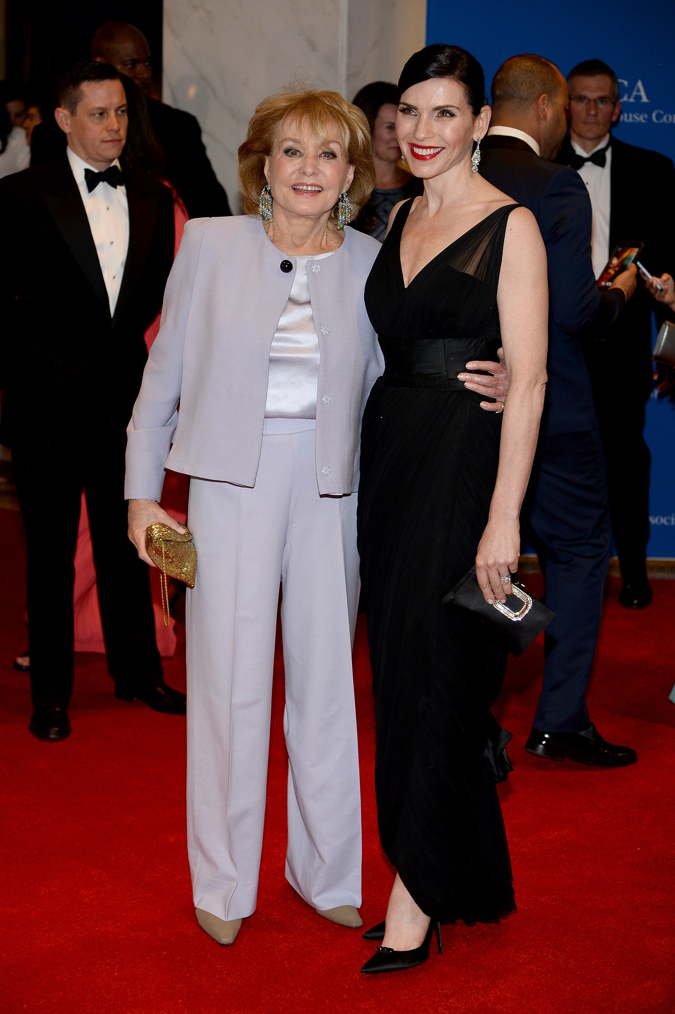 Barbara Walters buddied up with Julianna Margulies.