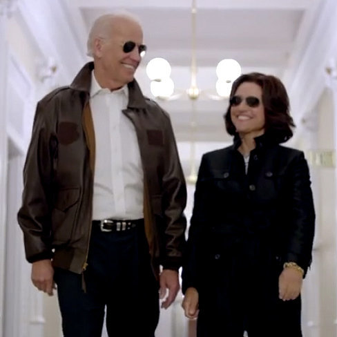 Joe Biden and Julia Louis-Dreyfus at Correspondents' Dinner