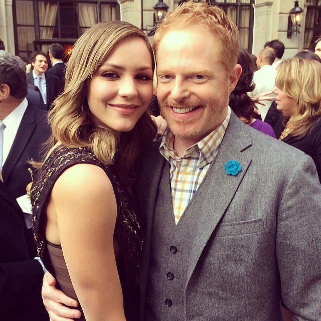 """Jesse Tyler Ferguson kicked off the weekend with """"the gorgeous"""" Katharine McPhee at the People and Time party! Source: Instagram user jessetyler"""