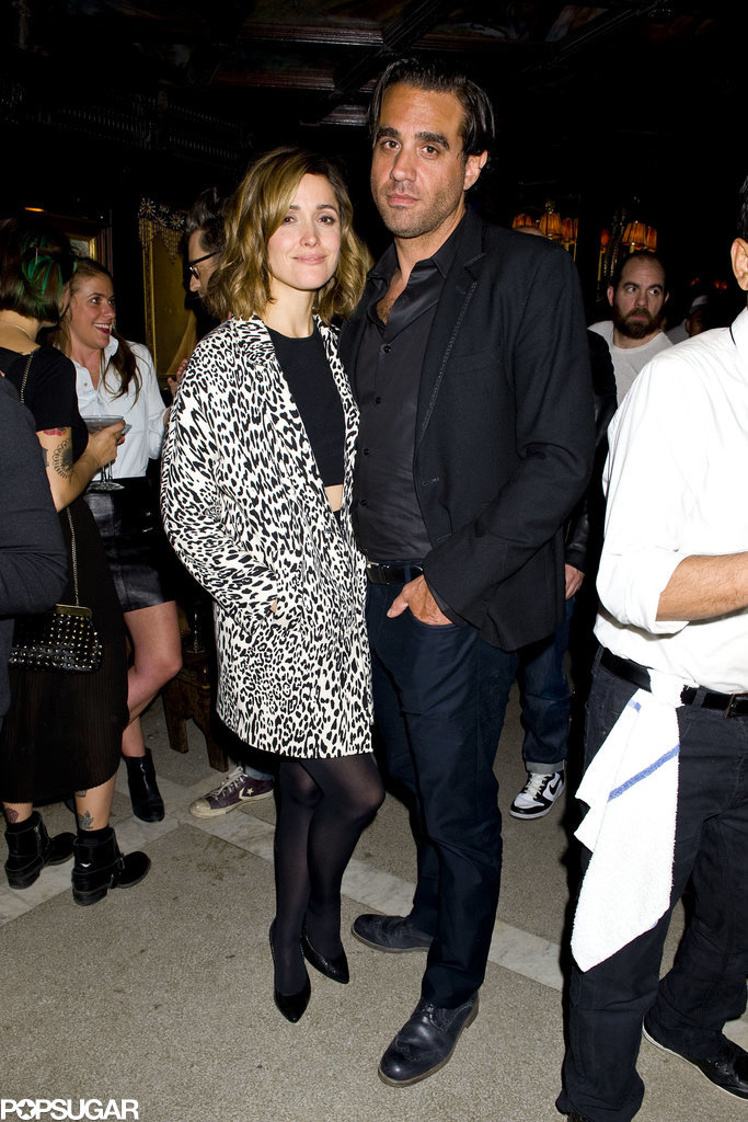 Rose Byrne stayed close to her boyfriend, Bobby Cannavale.
