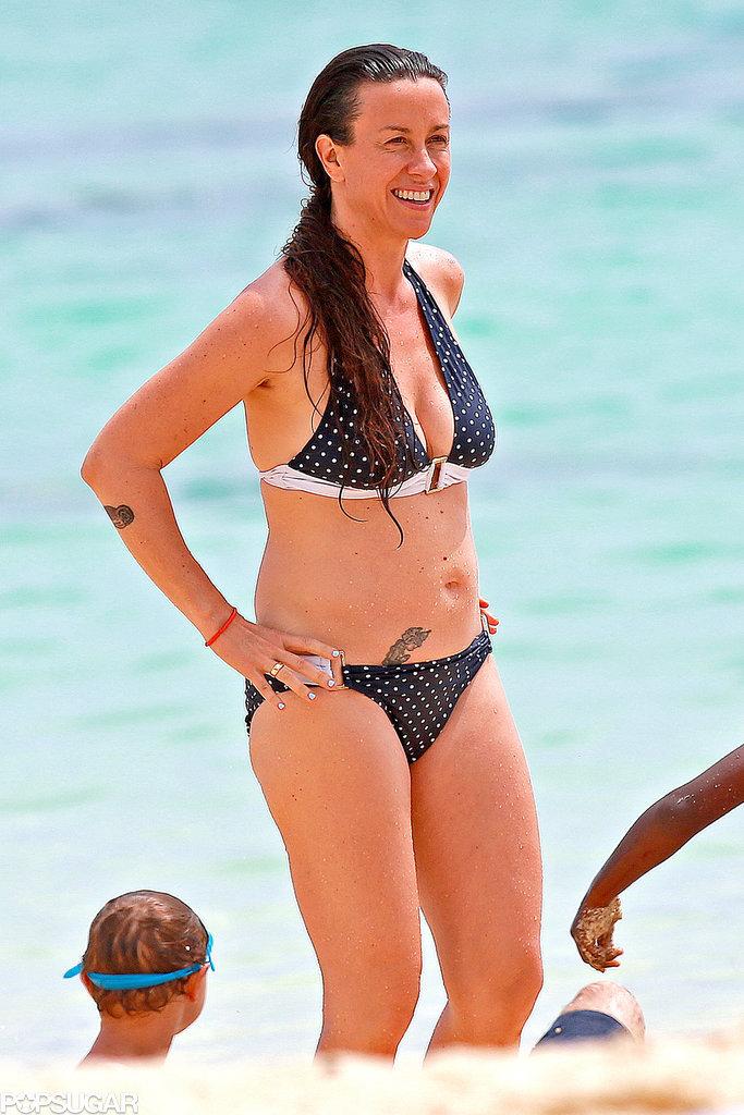 Alanis Morissette Has a Ball in Her Bikini