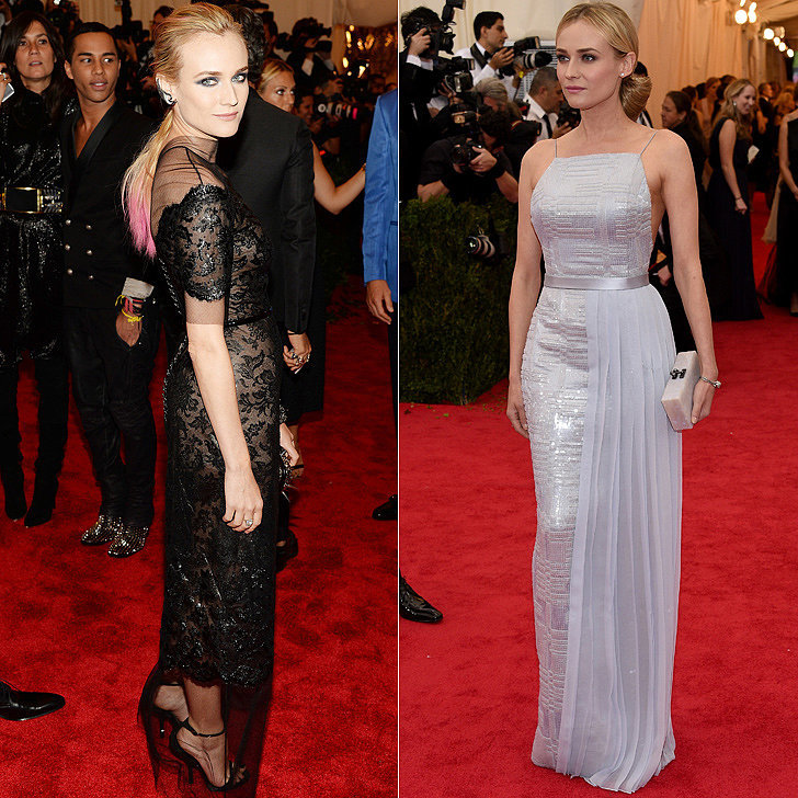 Diane Kruger at the 2013 and 2014 Met Galas