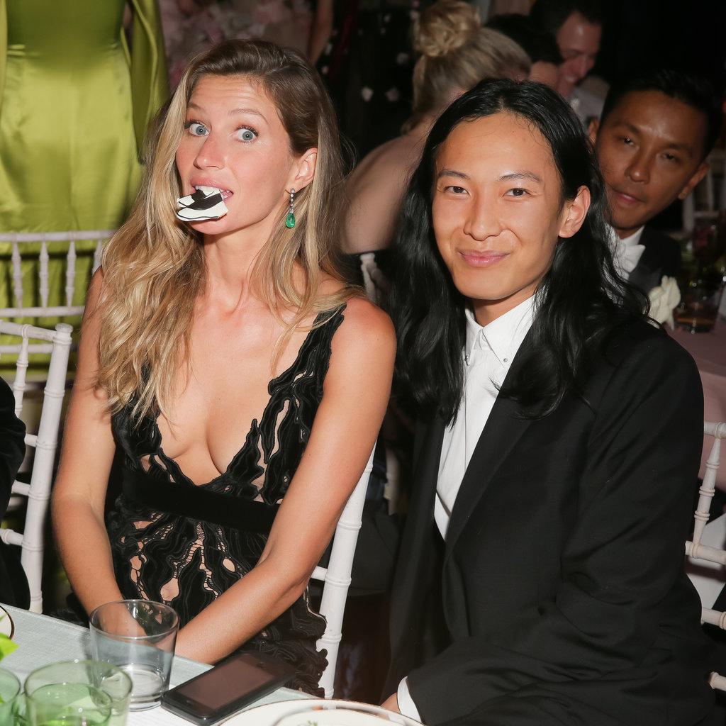 Gisele Bündchen got goofy with designer Alexander Wang.