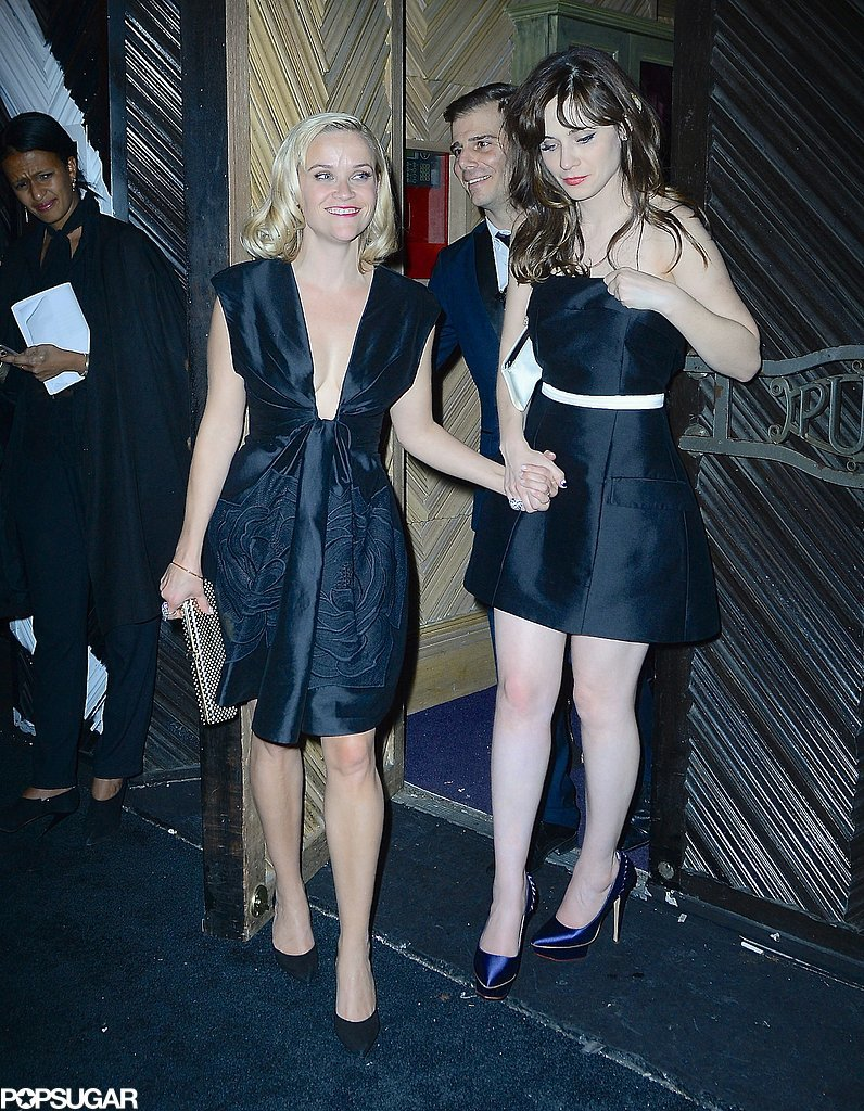 Reese left an afterparty with Zooey Deschanel.