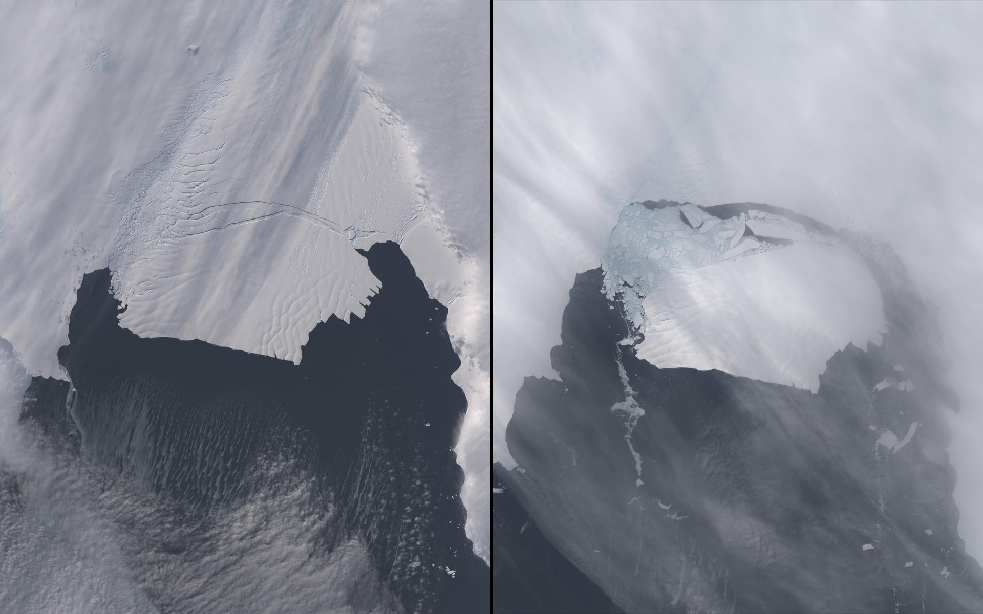 Pine Island Glacier Calving, Antarctica