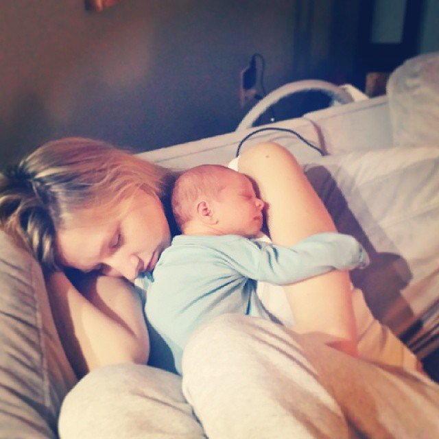 """Having my baby curl up to me and know that I'm her Mum."" — Ashley Source: Instagram user celrod03"
