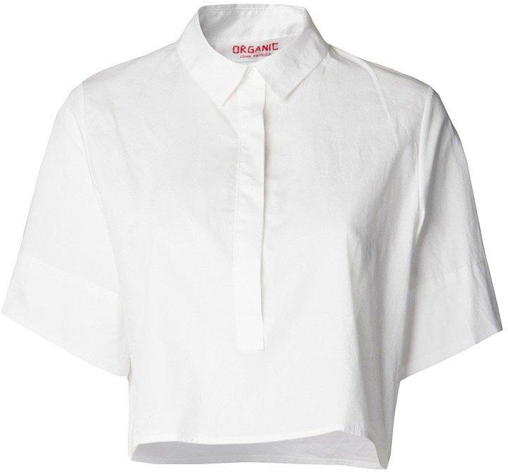 Organic by John Patrick Cropped Button-Down Shirt