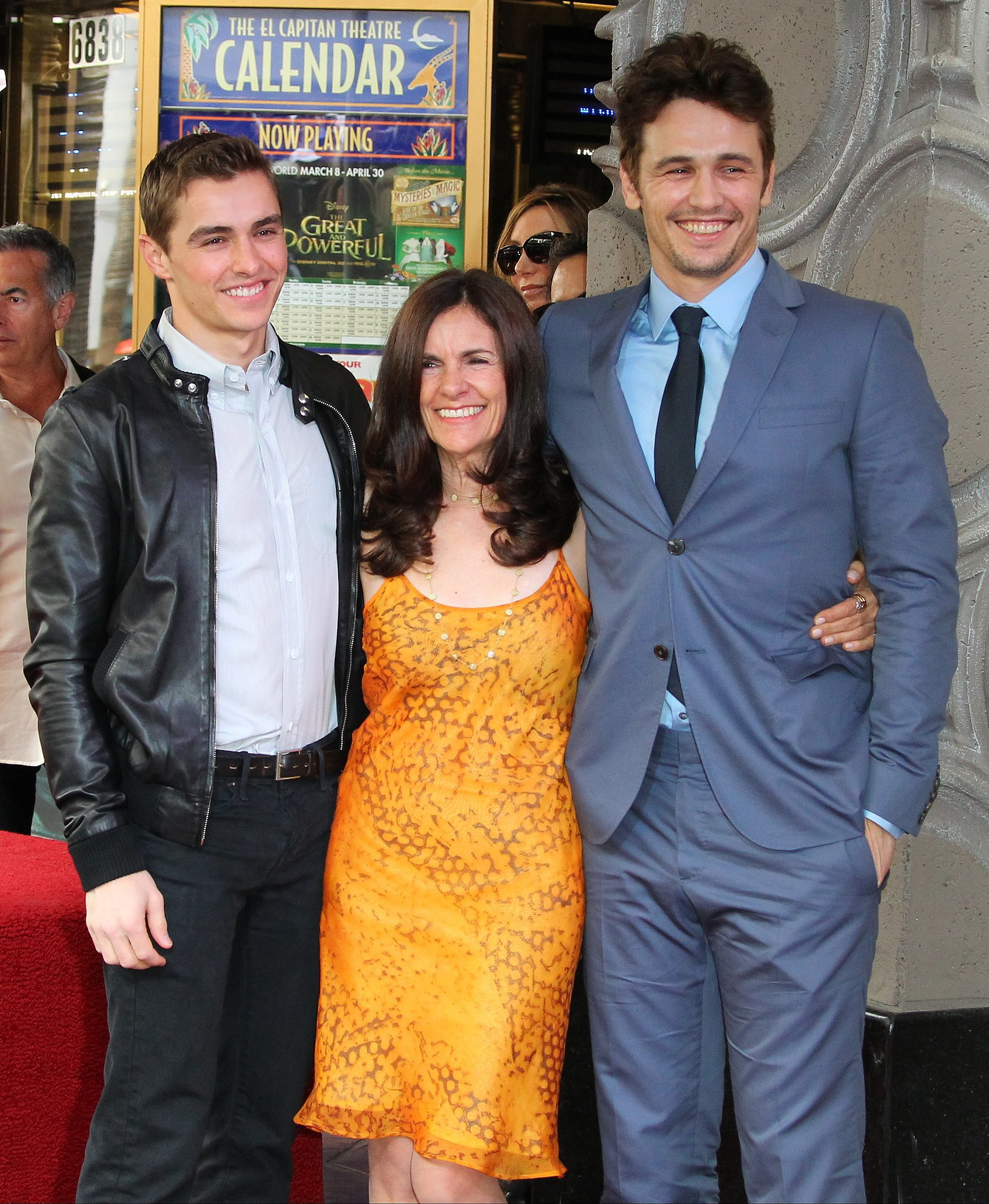 Dave Franco, James Franco, and Betsy Lou Franco