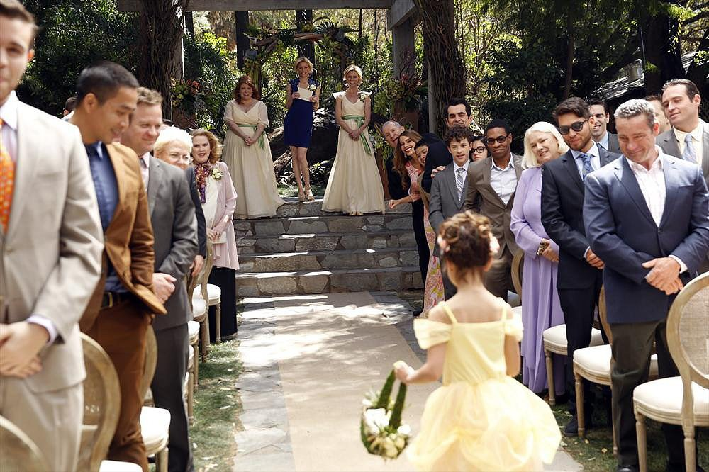 Aww, Lily makes an adorable flower girl.