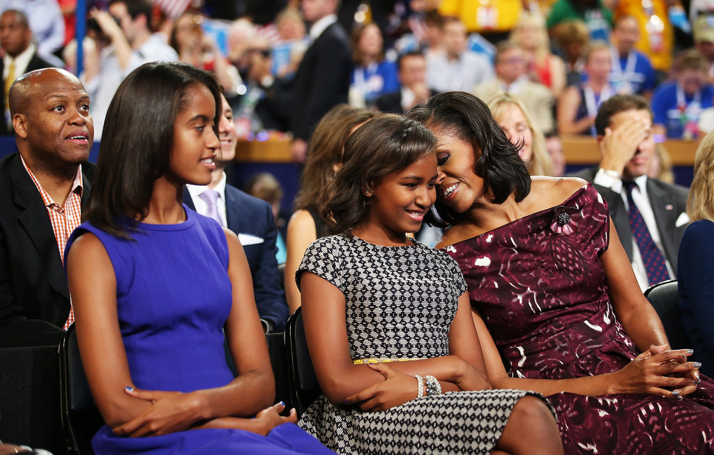 Michelle and Sasha shared a sweet mother-daughter moment in Charlotte, NC.