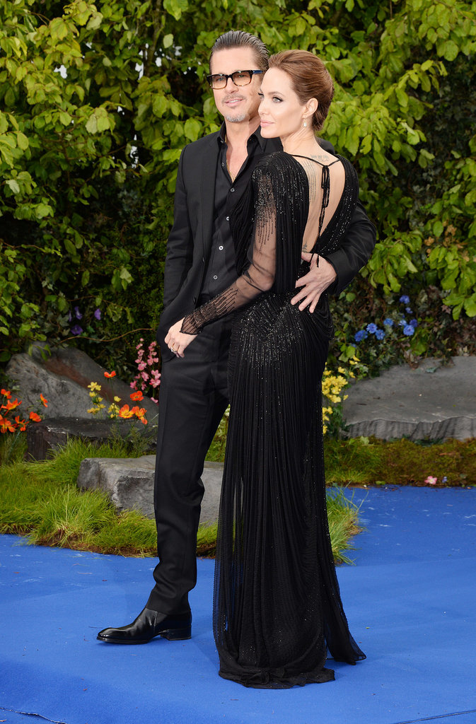 Brad Pitt and Angelina Jolie attended a special event for her new film,  Maleficient, in London on Thursday.