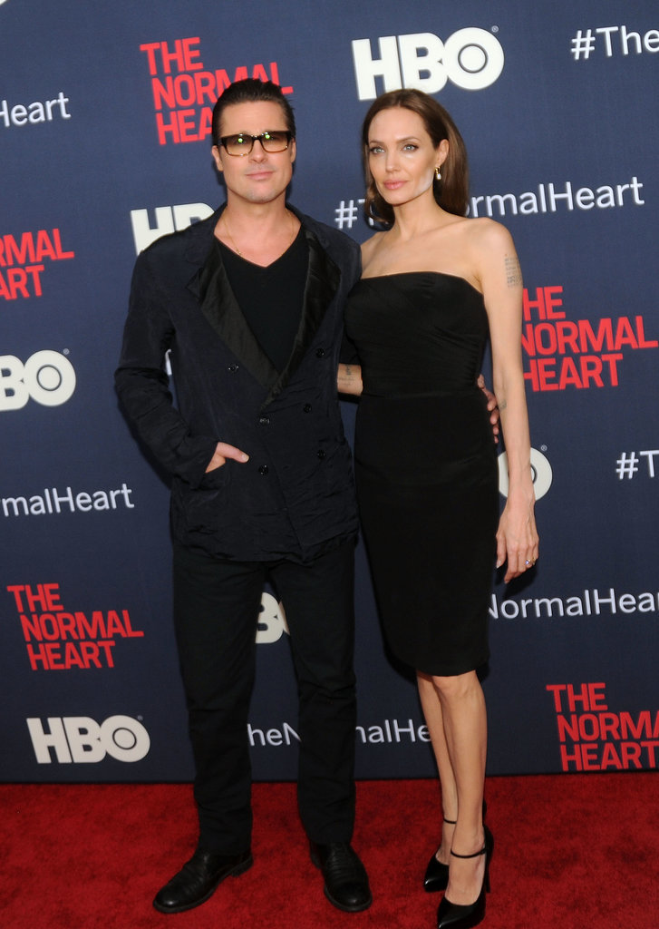 Angelina Jolie and Brad Pitt worked the carpet together.