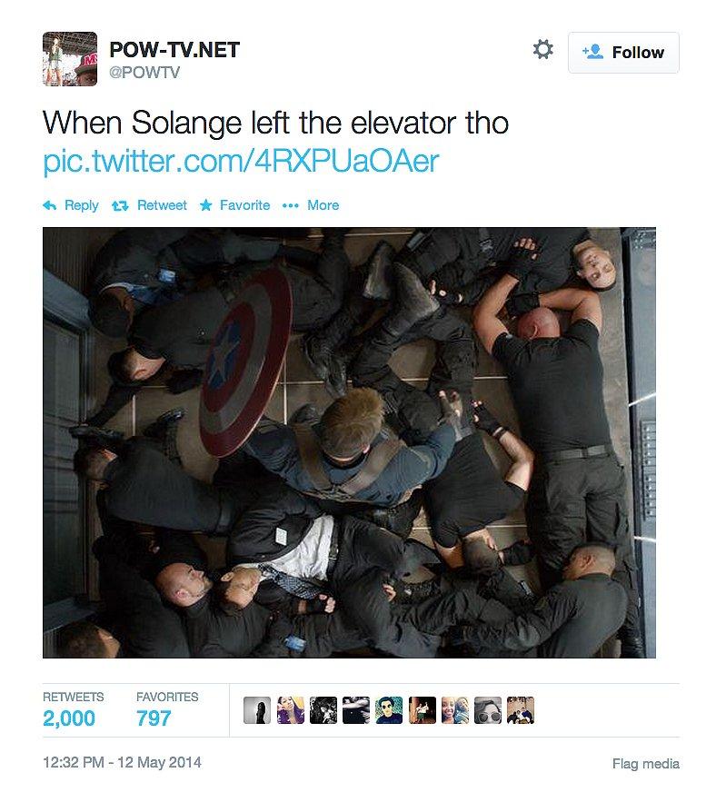 Solange's Captain America Moves