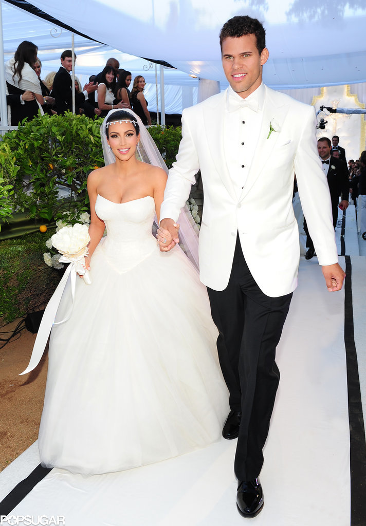 Kim and Kris were beaming after their ceremony.