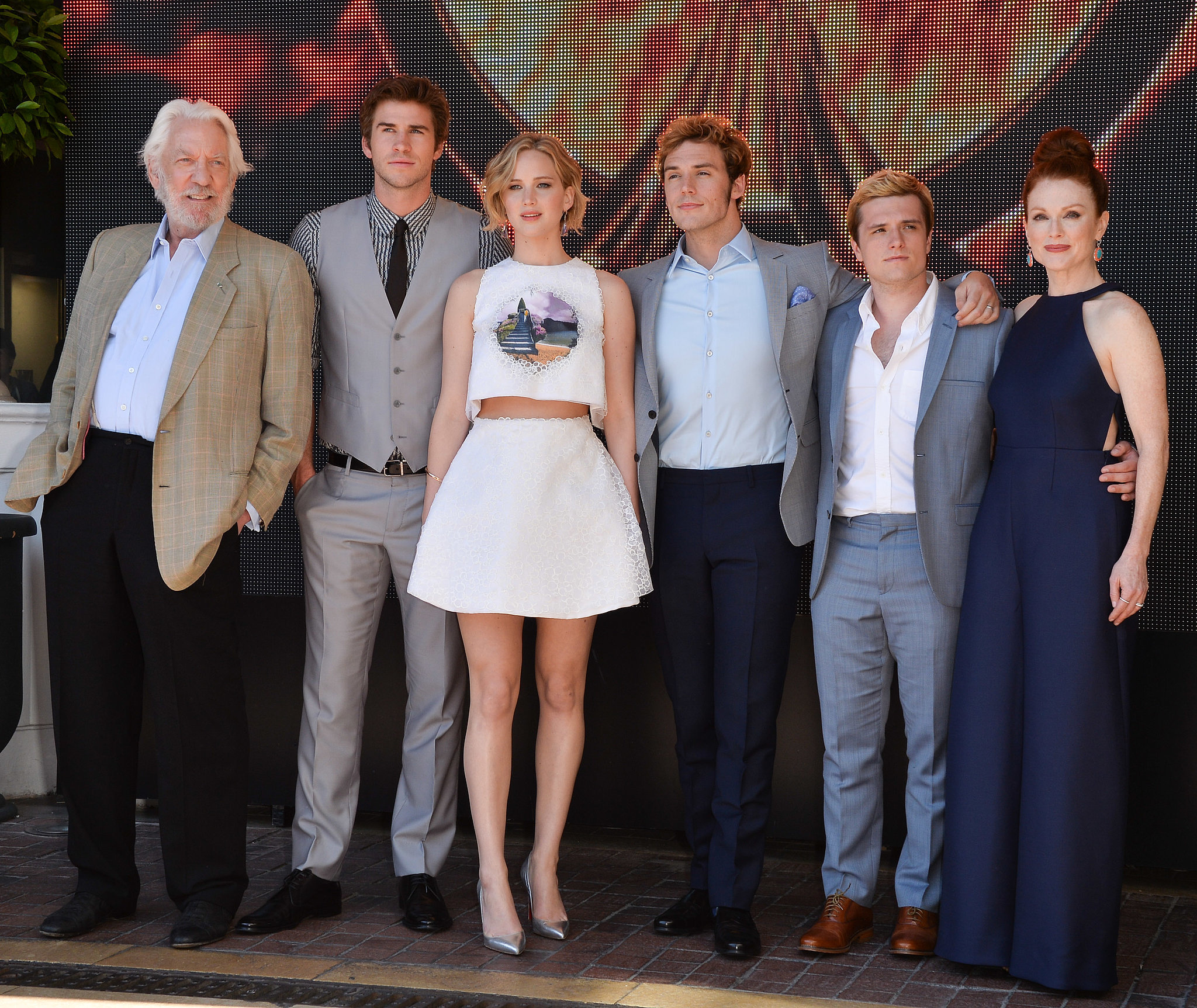 Photo de groupe pour les acteurs de The Hunger Games ...