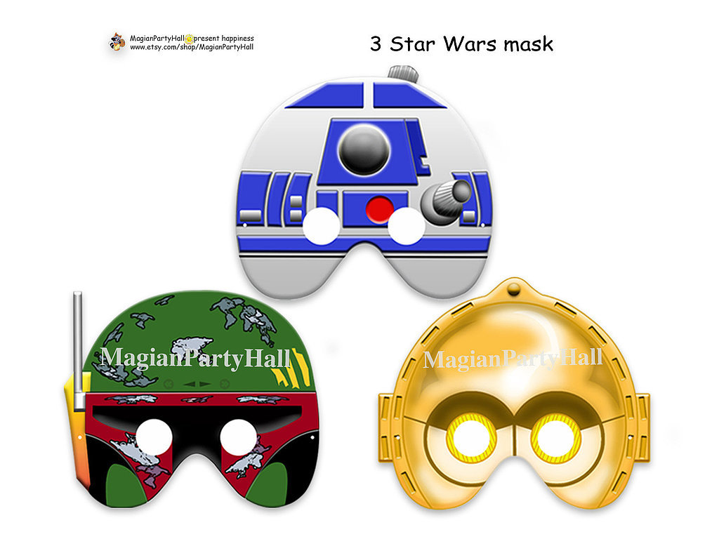 Can't have a Star Wars-themed wedding even though you really want to? Go for the next best thing with these printable props ($3) featuring R2, C-3PO, and Boba Fett.