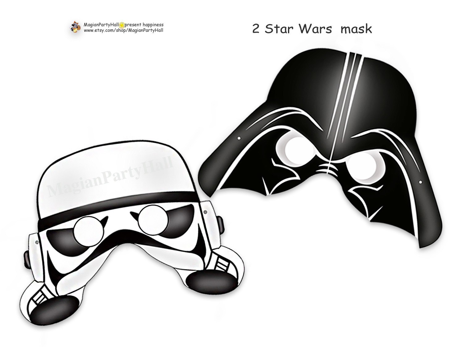Nerdy image with stormtrooper mask printable