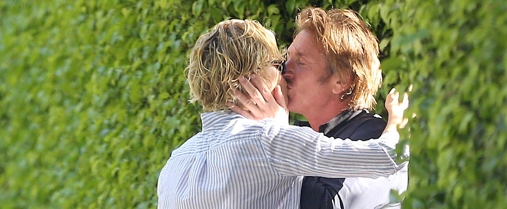 Charlize and Sean Say Goodbye With a Serious Kiss