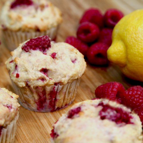 Recipe For Low-Sugar, High-Protein Lemon Raspberry Muffins