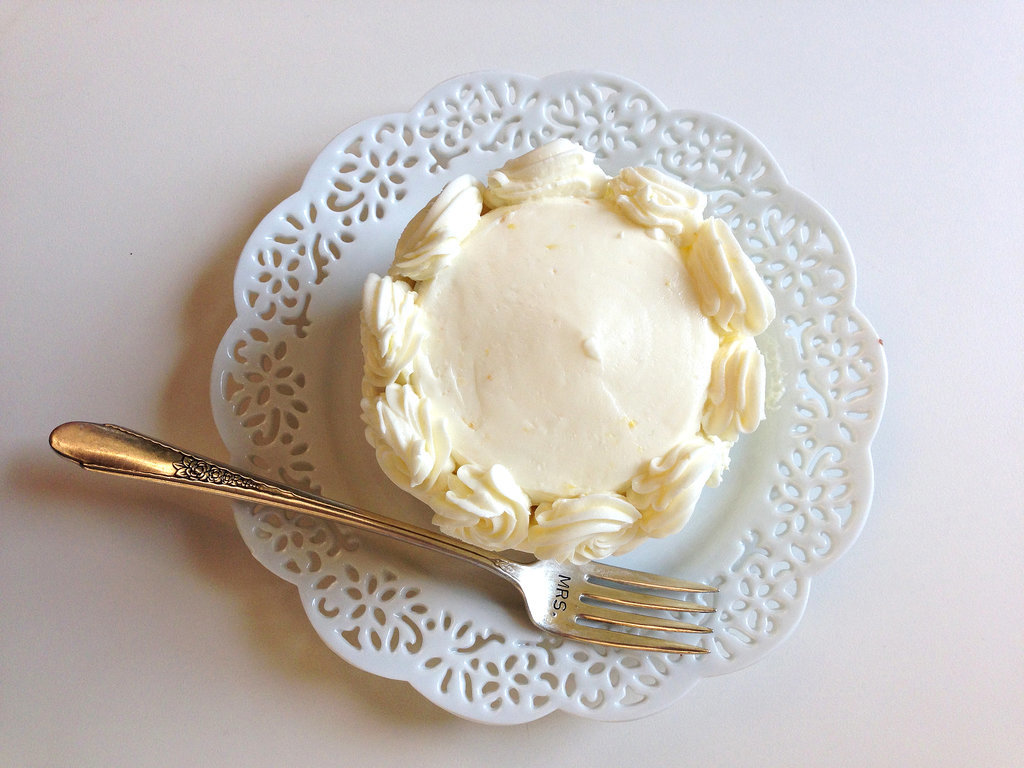 """Red Velvet With Whipped Vanilla Frosting Topped with vanilla frosting rather than the standard cream-cheese frosting, this red velvet cake was dense, flavorful, and not too sweet, which made the vanilla frosting a welcome addition. """"Not too chocolate, which I love,"""" said one taster. """"I liked the frosting combo, as it kept things light."""" Lemon Meringue With Buttercream Frosting This dainty lemon cake (tragically, not pictured) had fresh lemon-curd filling, which won over even those of us who normally pass on lemon cake. Said one taster, """"It tasted like real lemons, not the artificial flavor. Perfect for a Summer wedding,"""" with a perfect balance of sweet and tart. Photo: Nancy Einhart"""