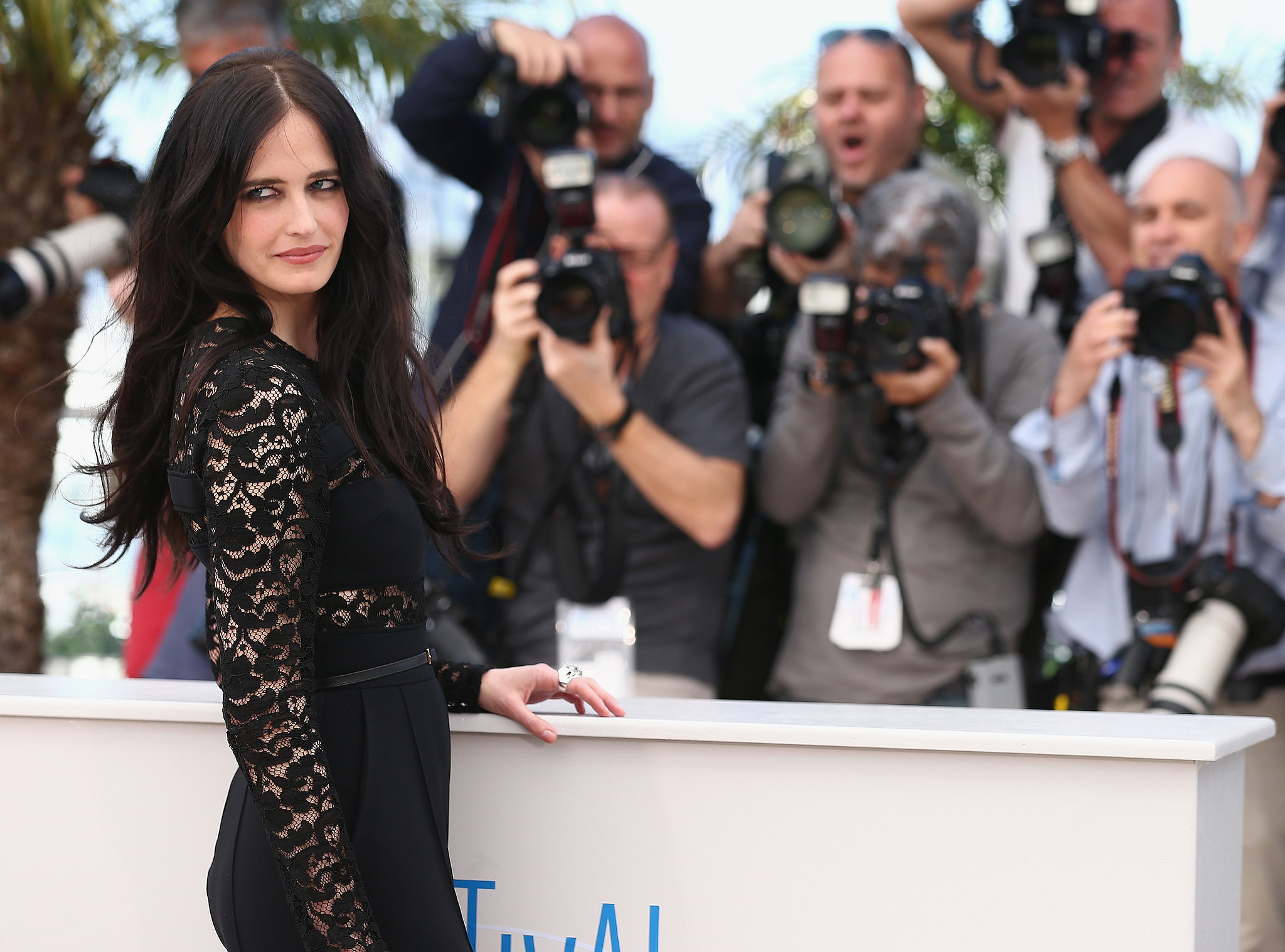 The gorgeous Eva Green gave a sexy stare at the photocall for The Salvation.