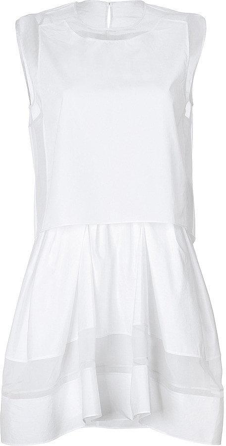 3.1 Phillip Lim White Stretch Dress