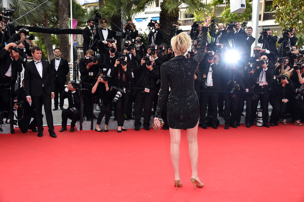 Sharon Stone wore a sequined mini for the premiere of The Search.