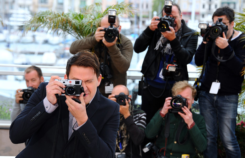Channing Tatum played photographer at the photocall for Foxcatcher.