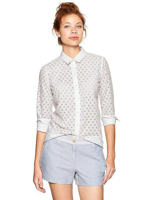 Gap Perforated Button-Down