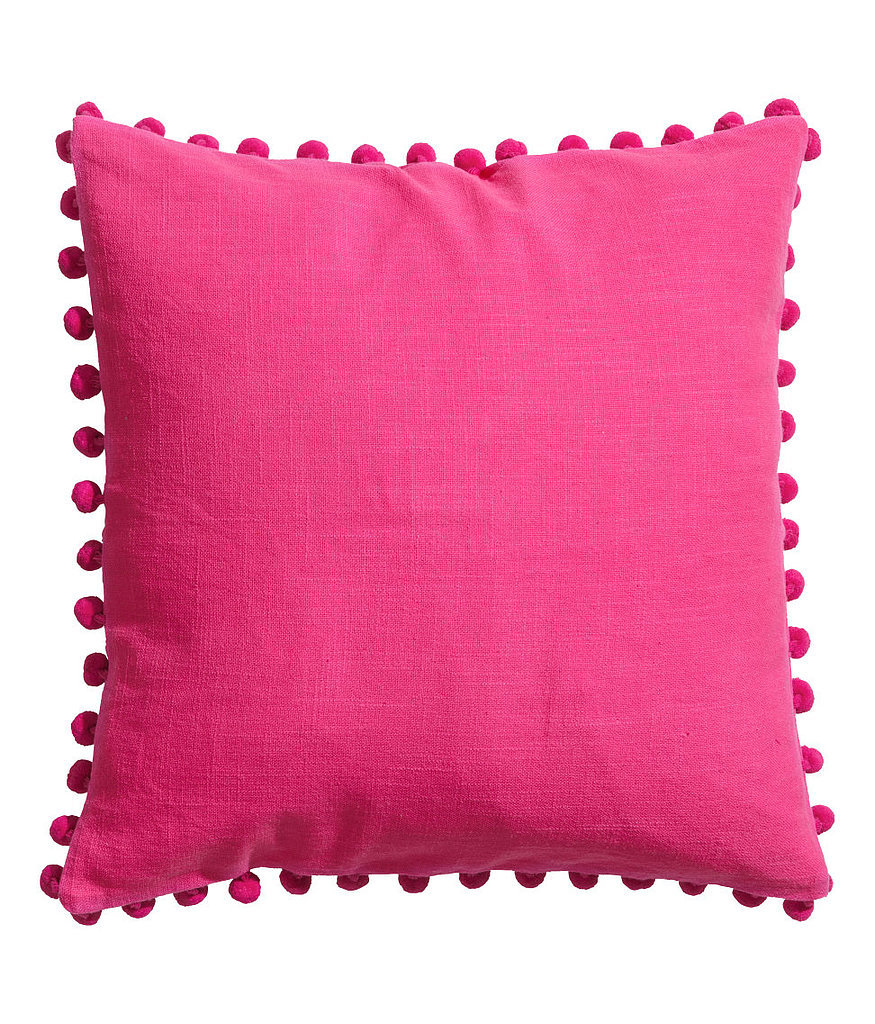 Brighten up your bedding with this bright pink pillow cover ($18).
