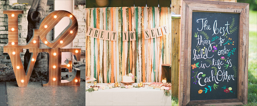Creative Wedding Signs to Bring Personality to Your Big Day