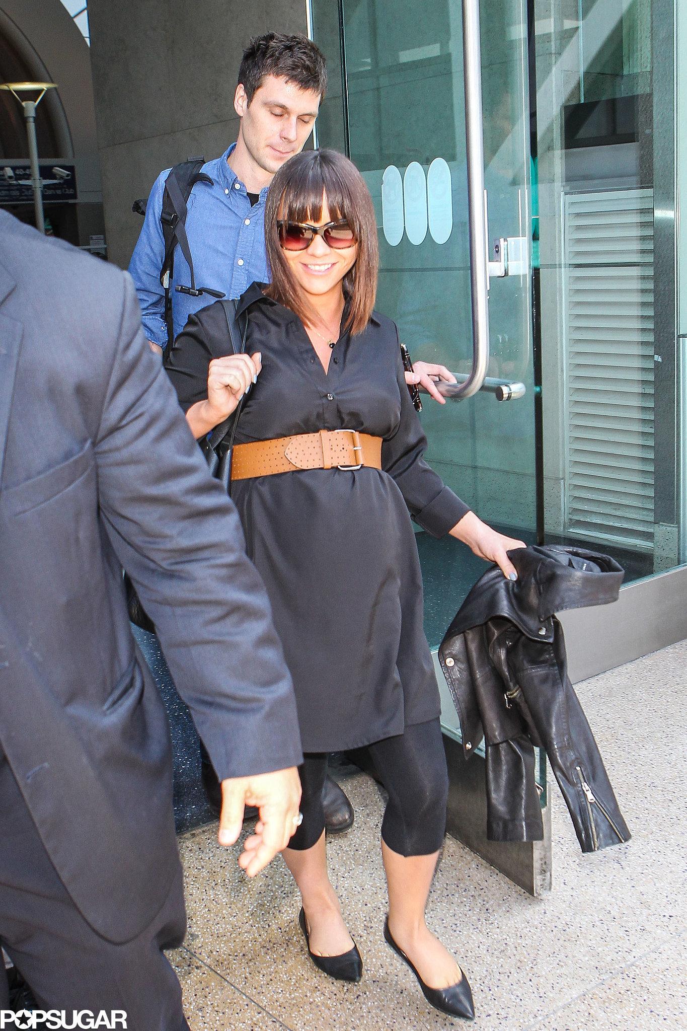 Christina Ricci Returns to LA and Puts Her Baby Bump on Display