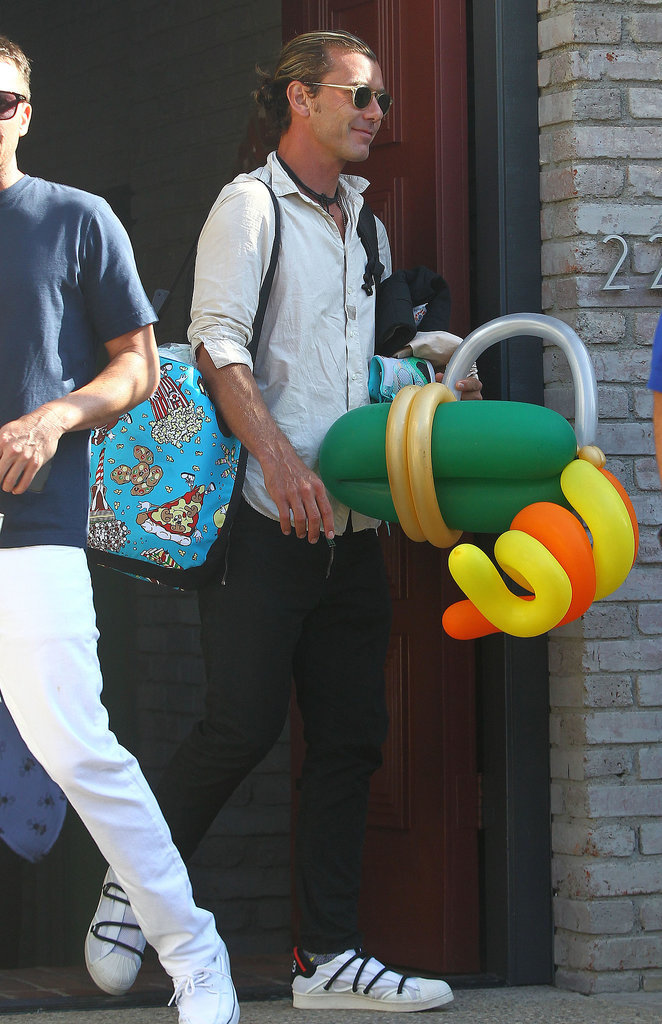 Meanwhile, Gavin Rossdale was on dad duty.