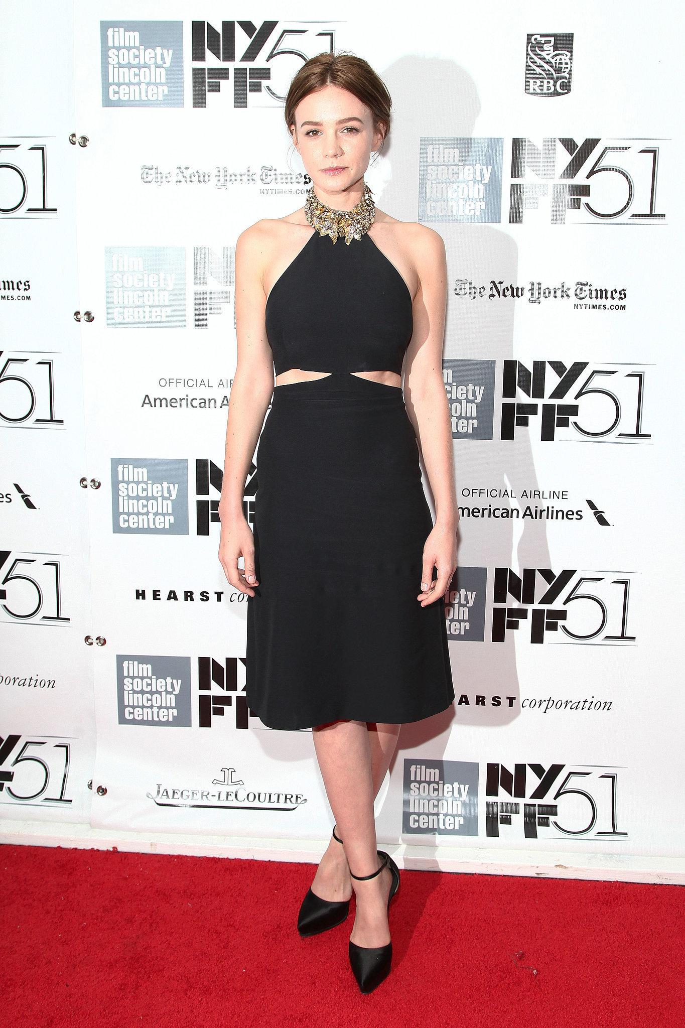 Carey Mulligan in Alexander McQueen at the 2013 New York Film Festival