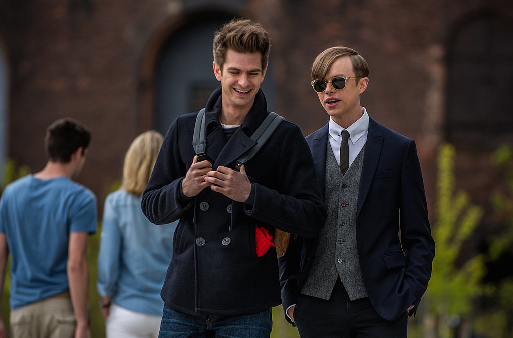 Andrew Garfield and Dane DeHaan in The Amazing Spider-Man 2